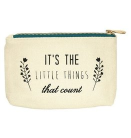 lucky feather little things canvas pouch