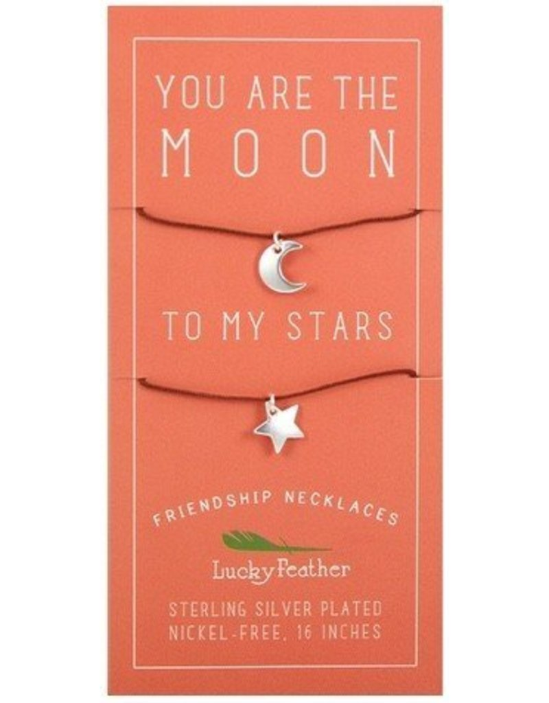 lucky feather lucky feather moon + stars friendship necklace
