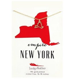 lucky feather new york necklace