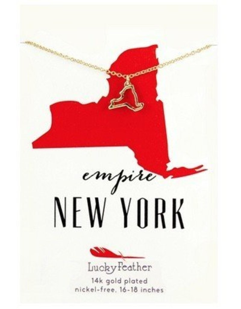 lucky feather lucky feather new york necklace