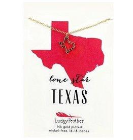 lucky feather texas necklace