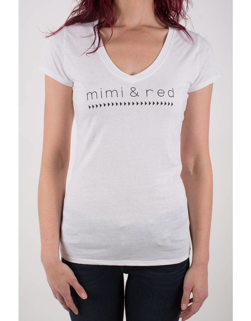 mimi & red v neck tee