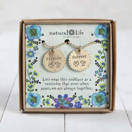 natural life natural life friends forever friendship necklaces