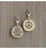 natural life natural life peace sign change the world junk market charm