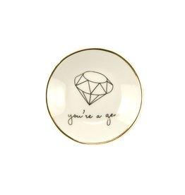 you're a gem trinket dish