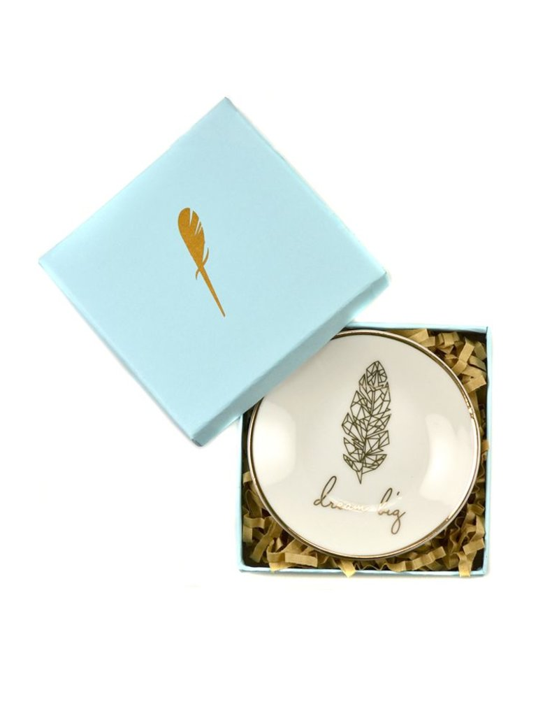 lucky feather lucky feather dream big trinket dish
