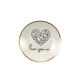 lucky feather love you more trinket dish