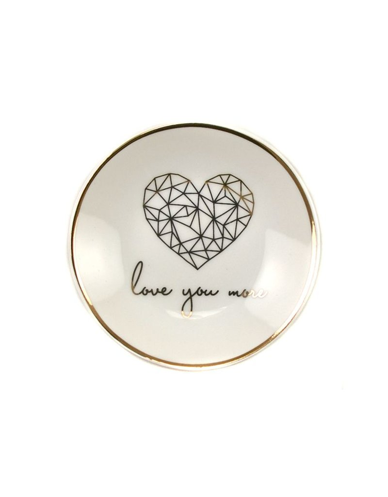 lucky feather lucky feather love you more trinket dish