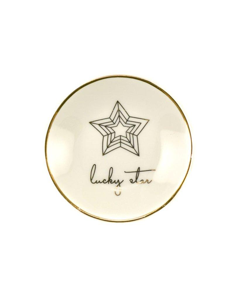 lucky feather lucky star trinket dish