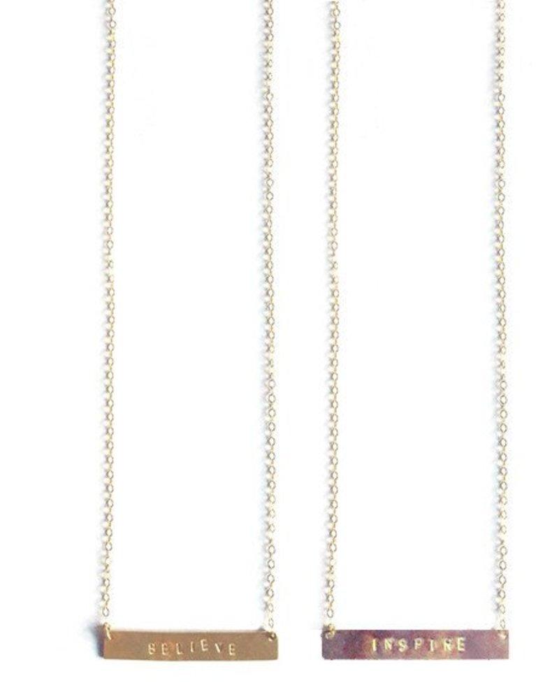 mimi & lu mimi & lu words to live by necklace