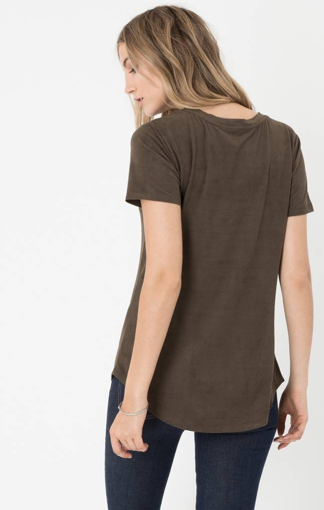 z supply z supply the suede pocket tee
