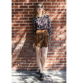 bb dakota barton fringe skirt