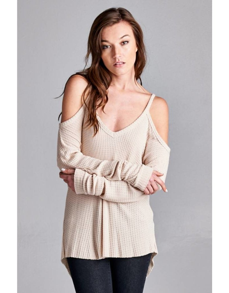 honey punch honey punch freddie cold shoulder top