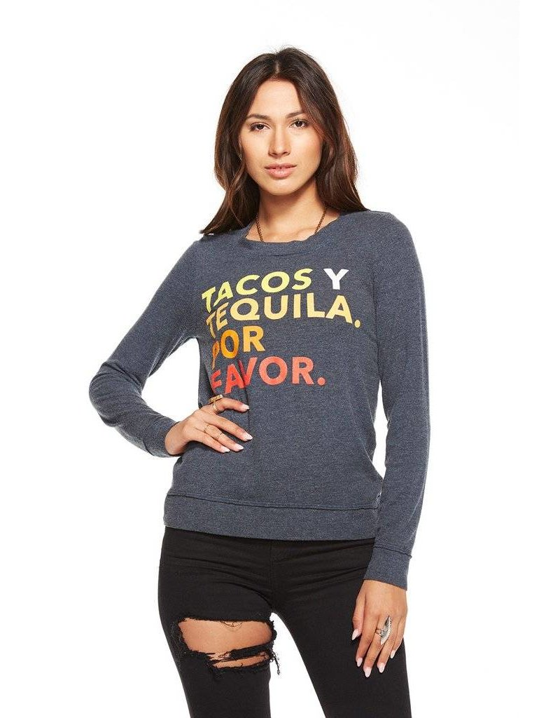 chaser chaser tacos & tequila l/s tee