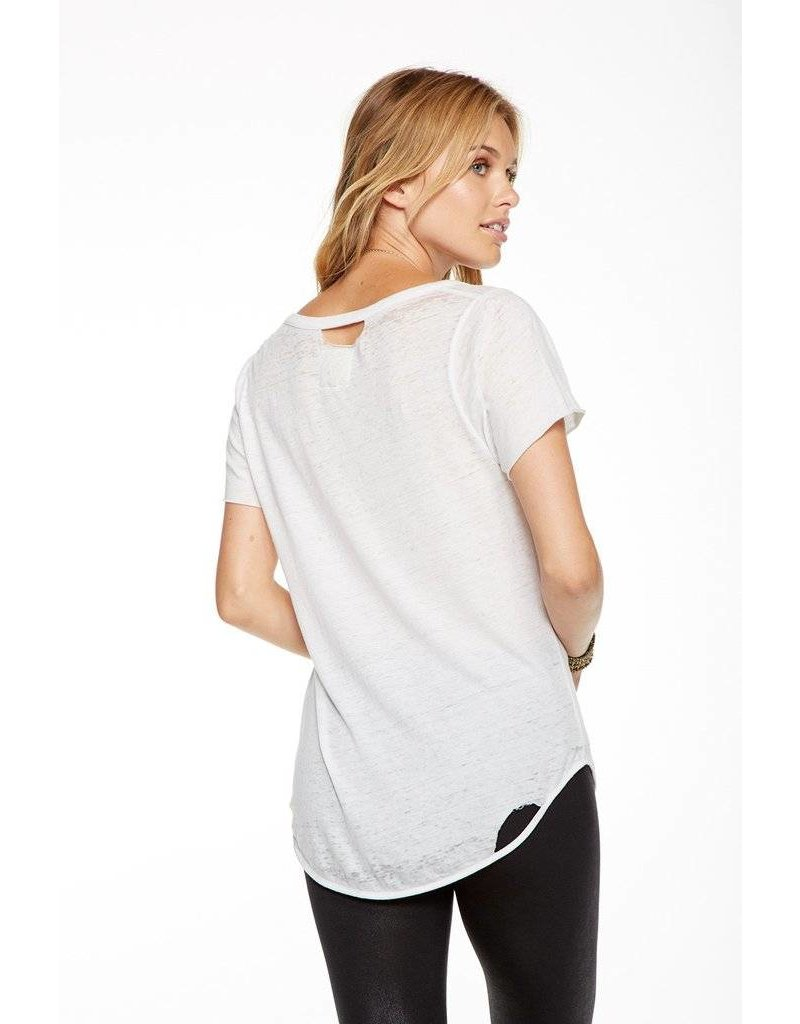 chaser chaser deconstructed short sleeve scoop tee