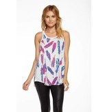 chaser chaser vintage feathers tank