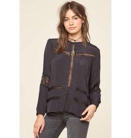 amuse society escapade woven blouse