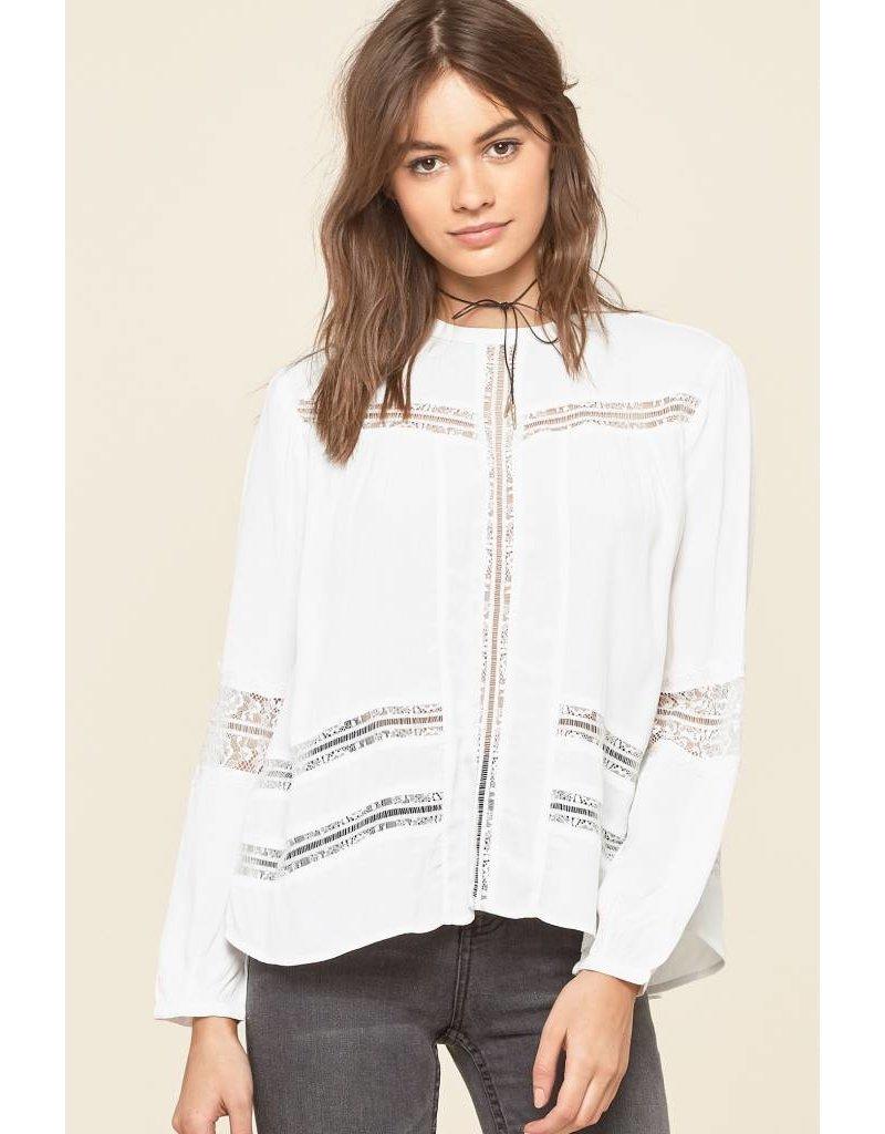 amuse society amuse society escapade woven blouse