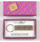 natural life natural life best friend keychain