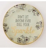 natural life natural life sparkle glass  tray