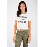 """amuse society amuse society """"champagne is for lovers"""" tee"""