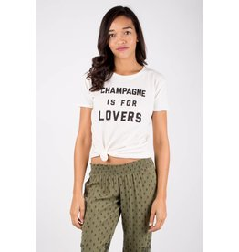 """amuse society """"champagne is for lovers"""" tee"""