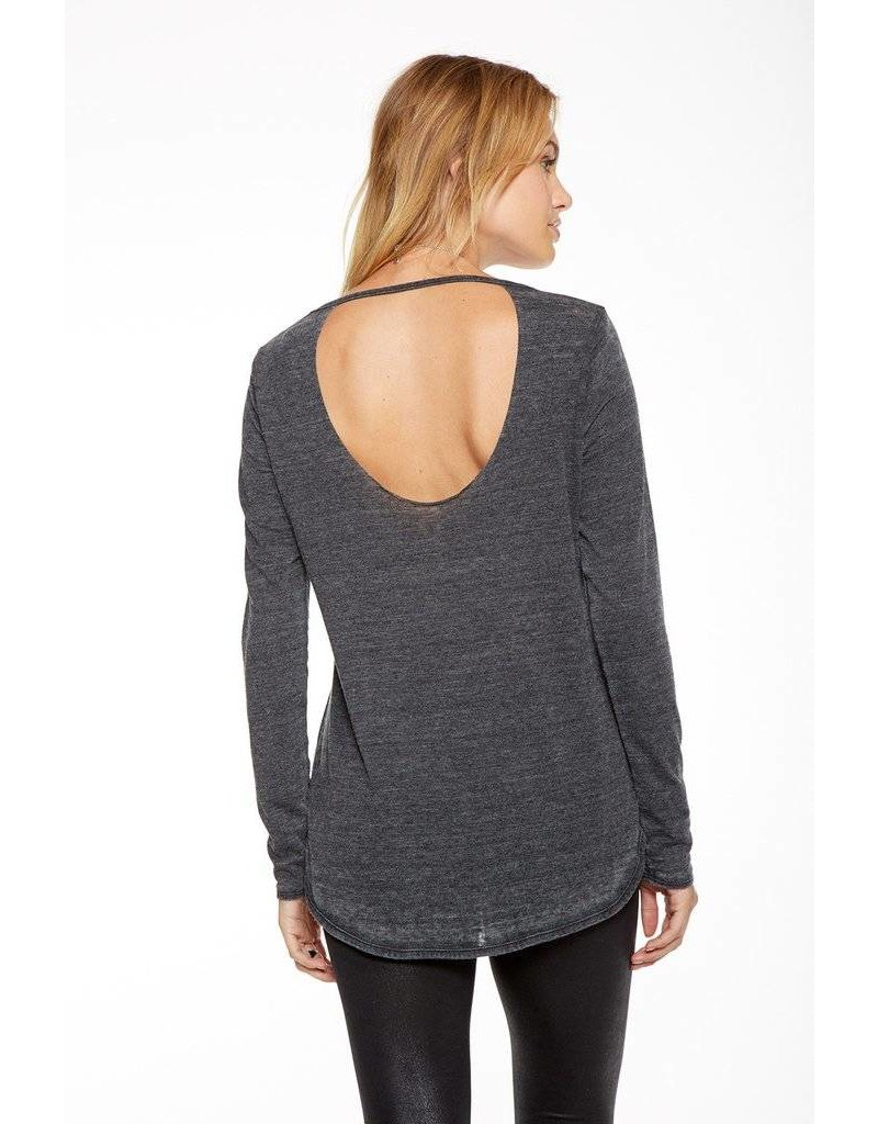 chaser chaser deconstructed open back l/s