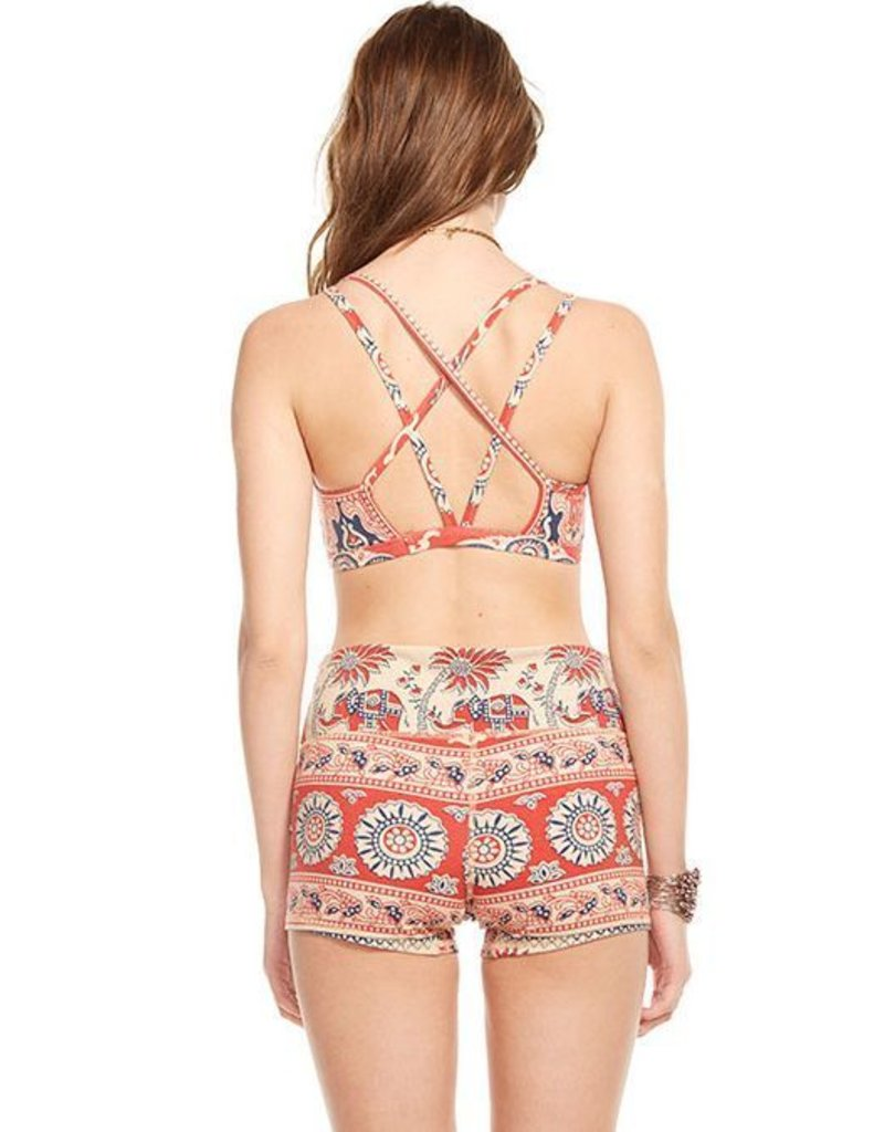 chaser chaser strappy cross front bralette