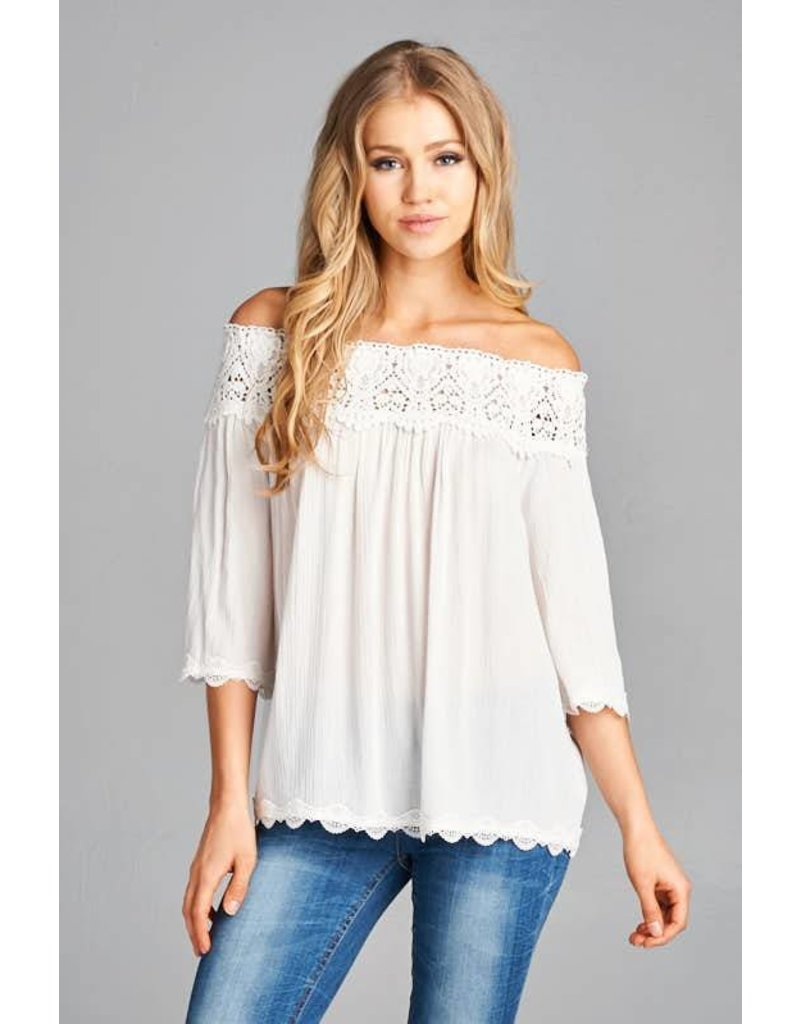 staccato lexy off the shoulder top