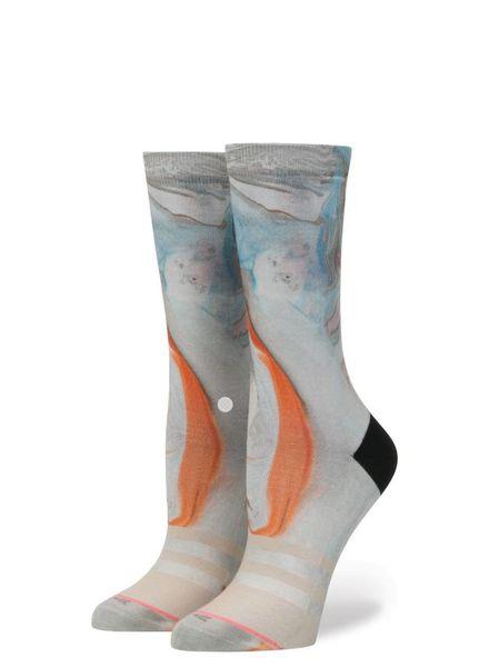 stance morning marble crew socks
