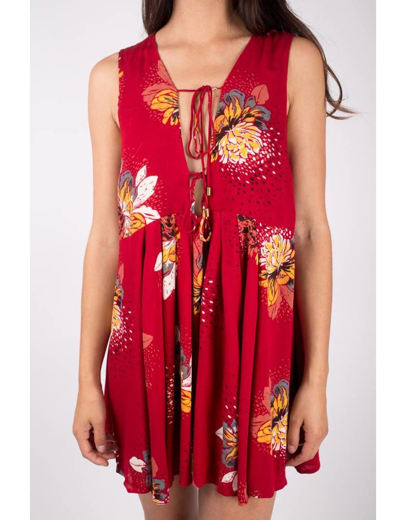 free people free people lovely day printed tie dress