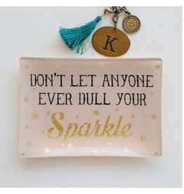 natural life natural life dont dull your sparkle glass tray
