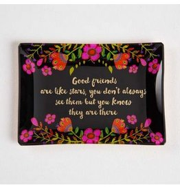 natural life natural life good friends glass tray