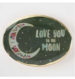 natural life natural life love you to the moon glass tray