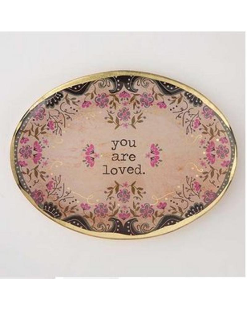 natural life natural life you are loved glass tray