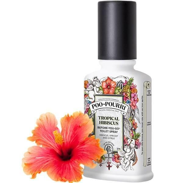 poo pourri poo pourri tropical hibiscus 4oz custom bottle