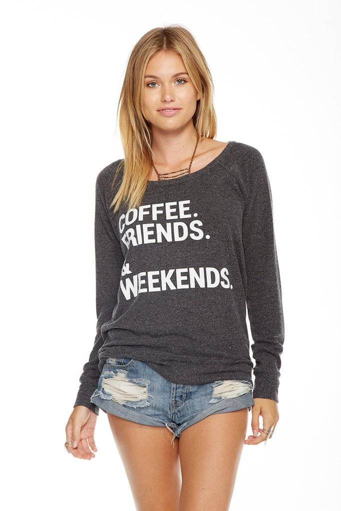 chaser chaser weekend coffee love knit