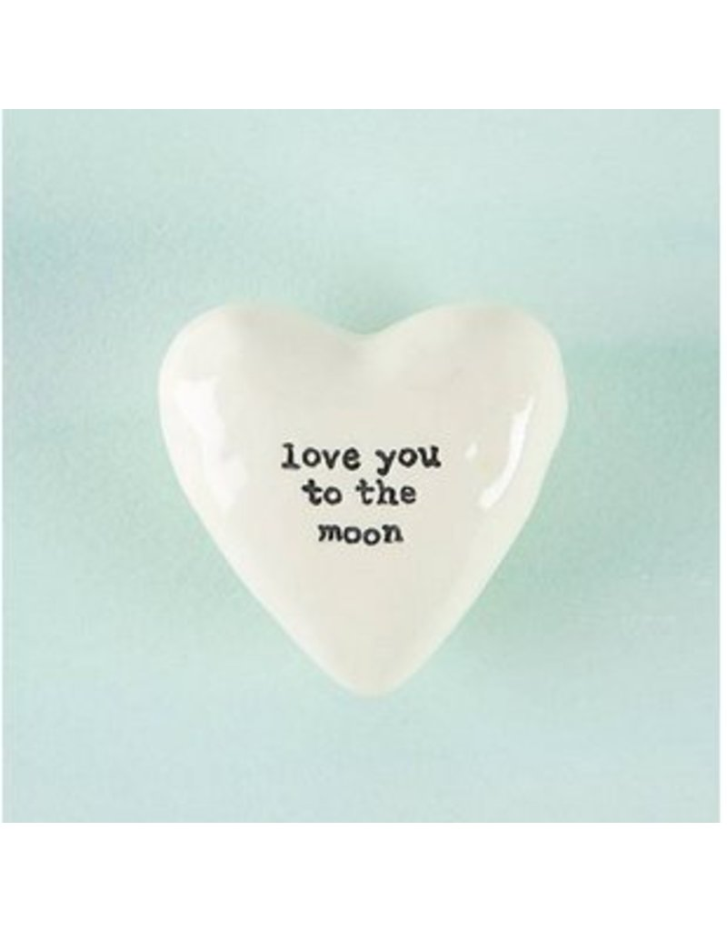 natural life natural life love you moon heart token
