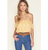 amuse society amuse society mariposa off the shoulder top