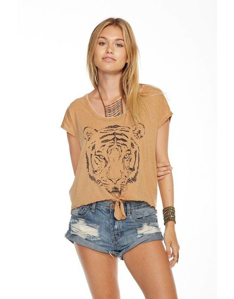 chaser chaser bengal tie front tee