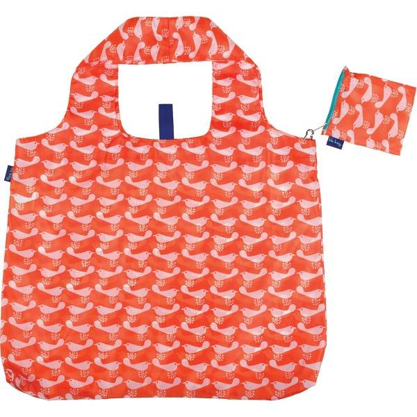 rock flower paper bird orange blu bag