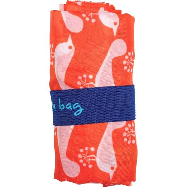 rock flower paper bird orange blu bag
