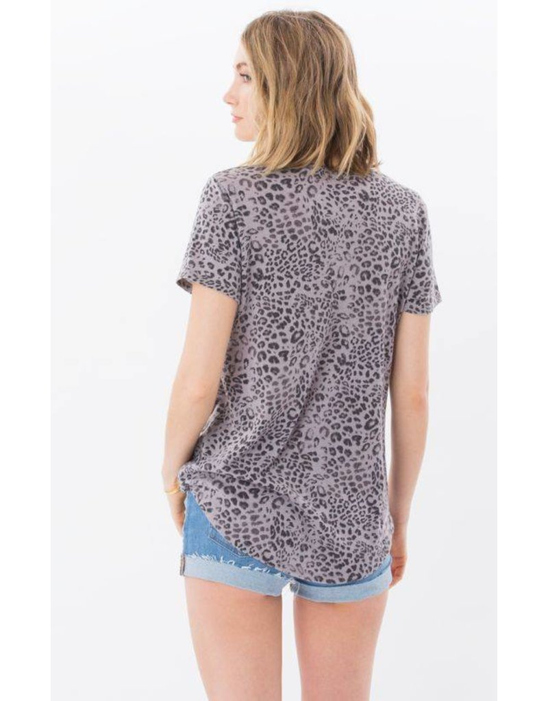 z supply leopard pocket tee