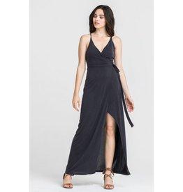 lush garnet wrap dress