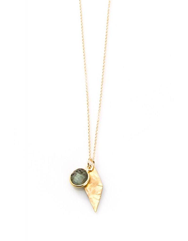 joy dravecky joy dravecky hammered with bezel stone necklace
