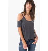 z supply z supply cold shoulder tee