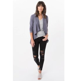 z supply suede waterfall cardigan