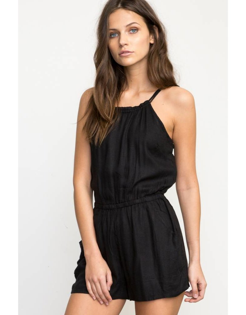 Black dress romper - Rvca Rvca Hot Water Romper