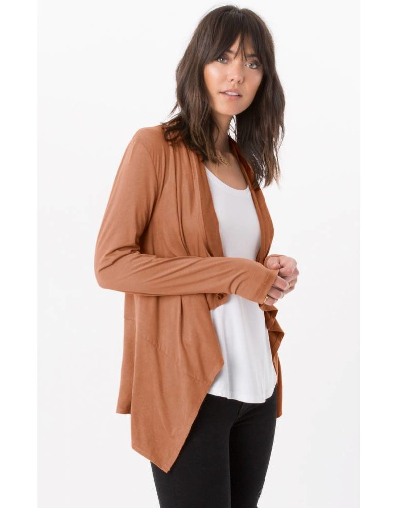 z supply z supply suede waterfall cardigan - mimi & red inc