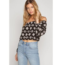 amuse society cold shoulder top